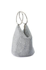 Bianca Silver Ball Mesh Handle Bag by Olga Berg