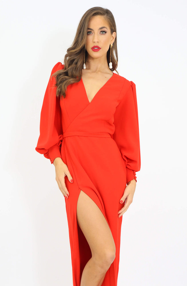 Bright Light Coral Dress by HSH
