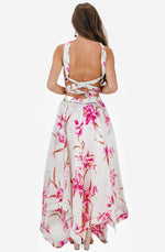 Corsage Orchid Print Midi Dress by Zimmermann