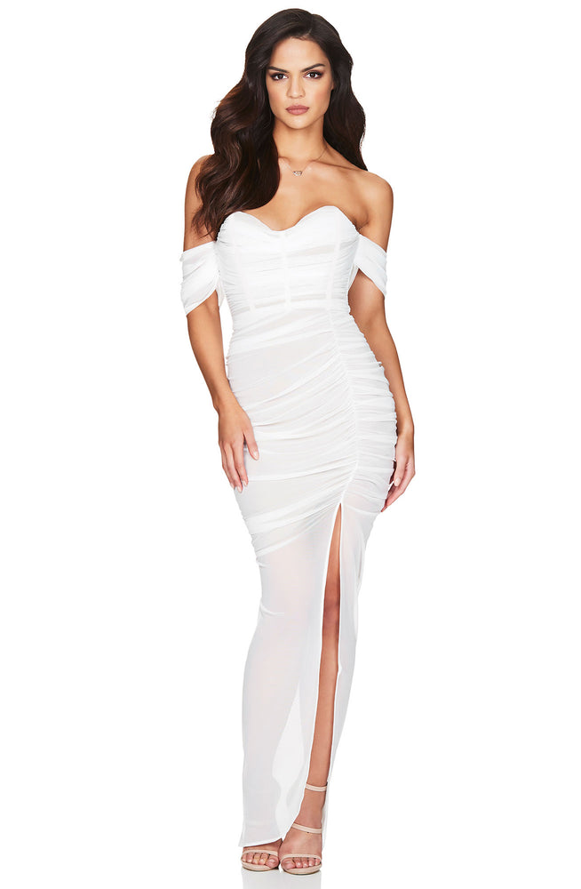 Dita White Mesh Gown by Nookie