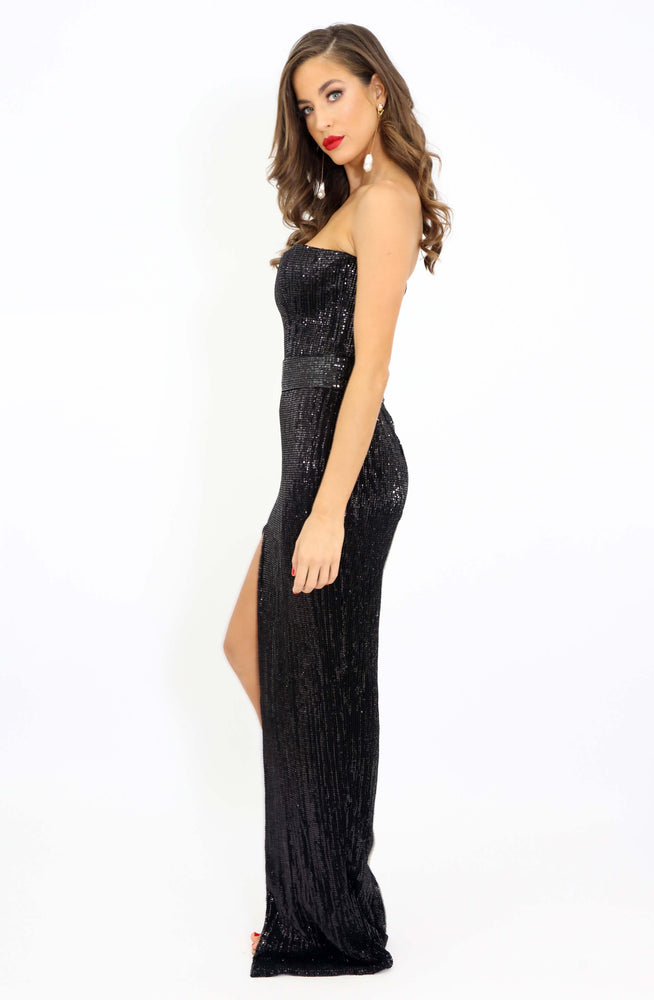 Ego Sequin Strapless Dress by HSH