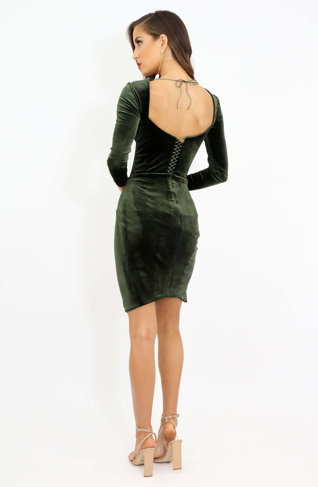 Emerald Lust Velvet Mini by HSH