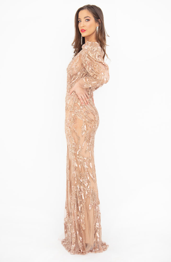 Golden Moment Gown by HSH