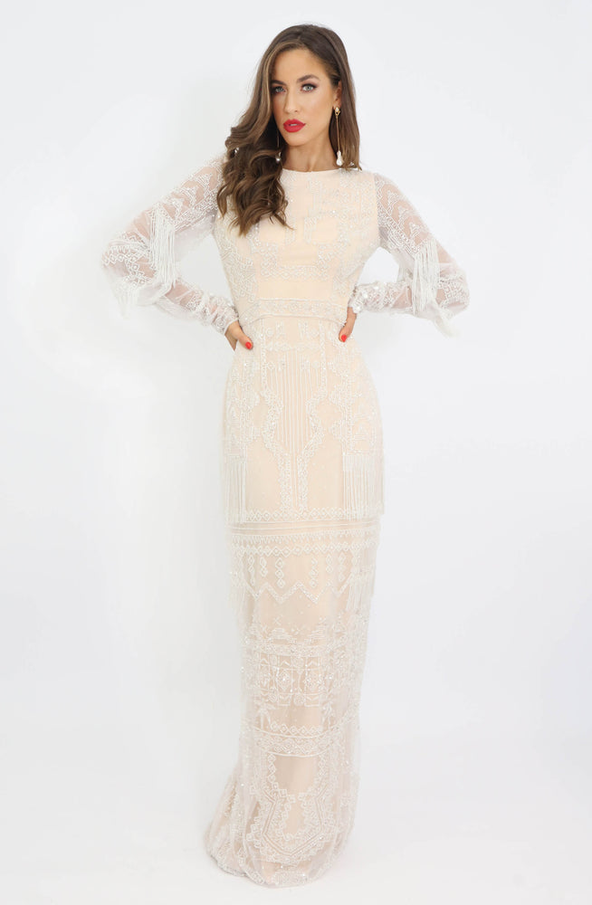 Gatsby Beaded Long Sleeve Dress by HSH