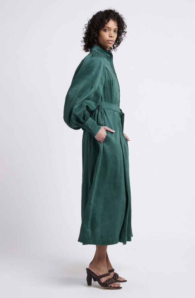 Gentle Shirt Dress in Emerald by Aje