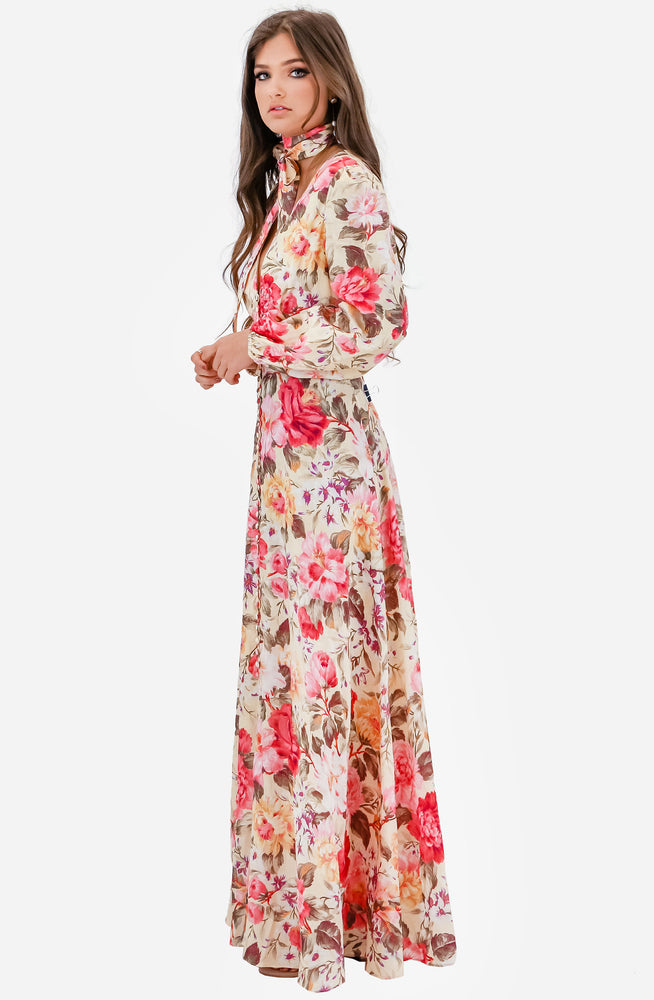 Honour Plunge Long Dress by Zimmermann