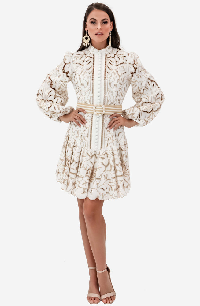 Edie Button Down Short Dress by Zimmermann