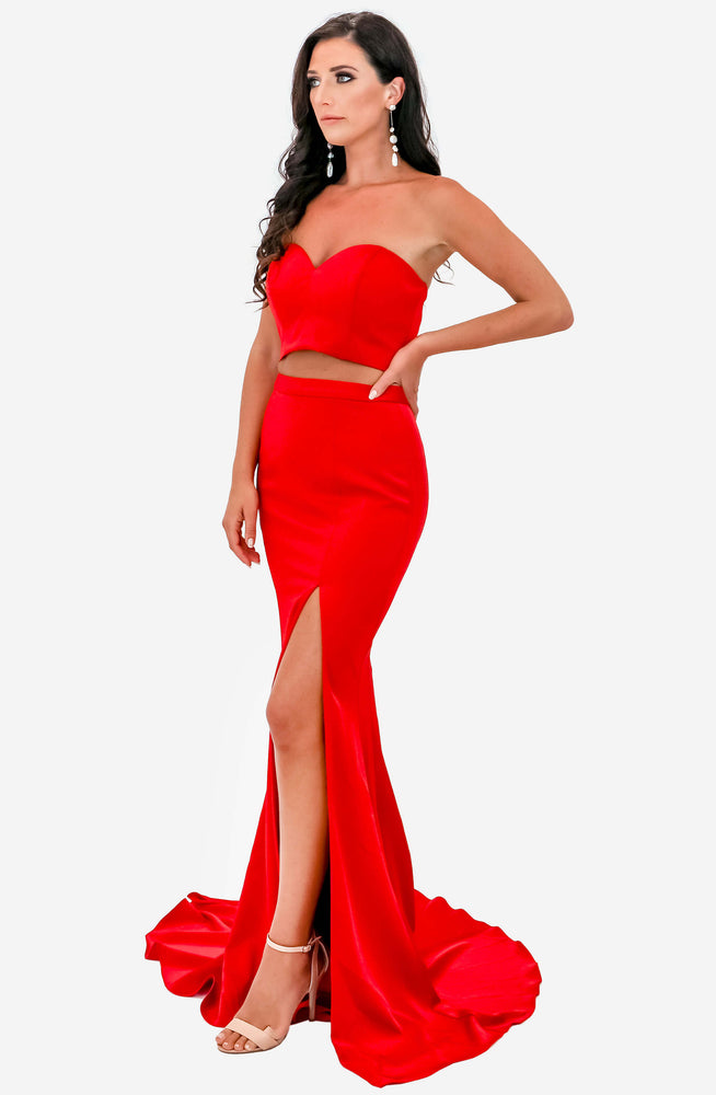 Jacinta Red Two Piece Set by Jadore (JX1001)