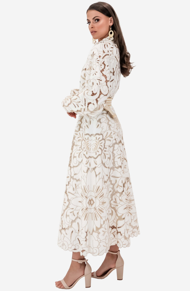 Edie Embroidery Long Dress by Zimmermann