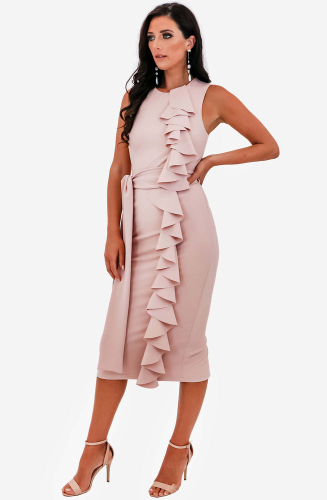 Silver Spoon Pink Midi Dress by Pasduchas