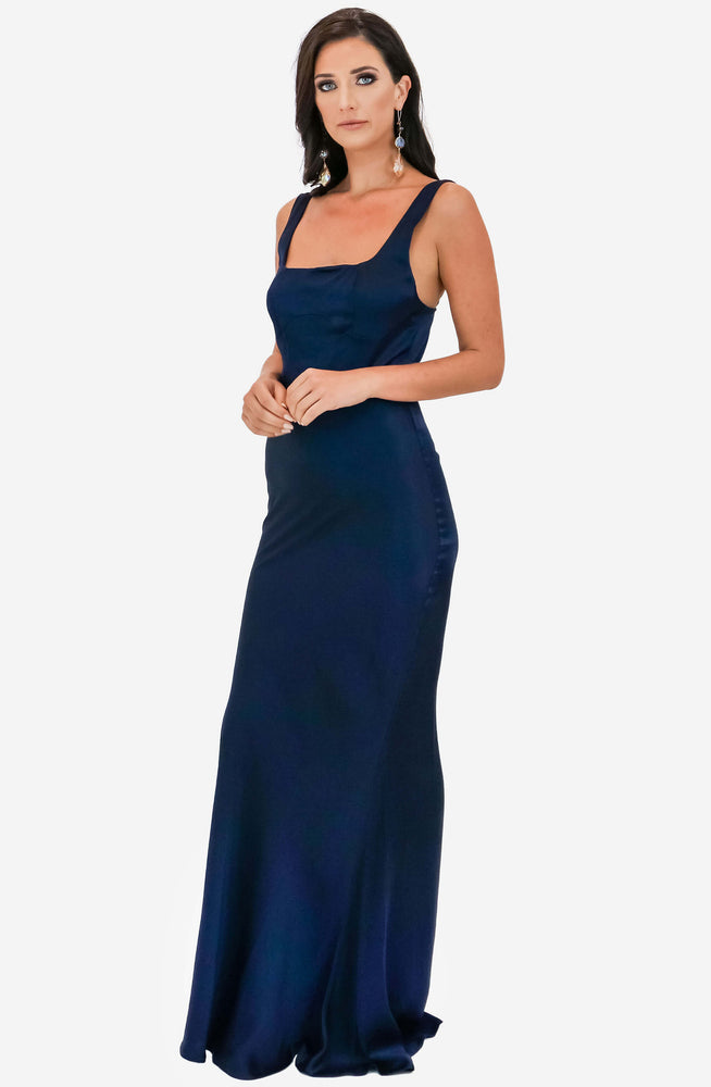 Lady Of The Night Navy Dress by Winona