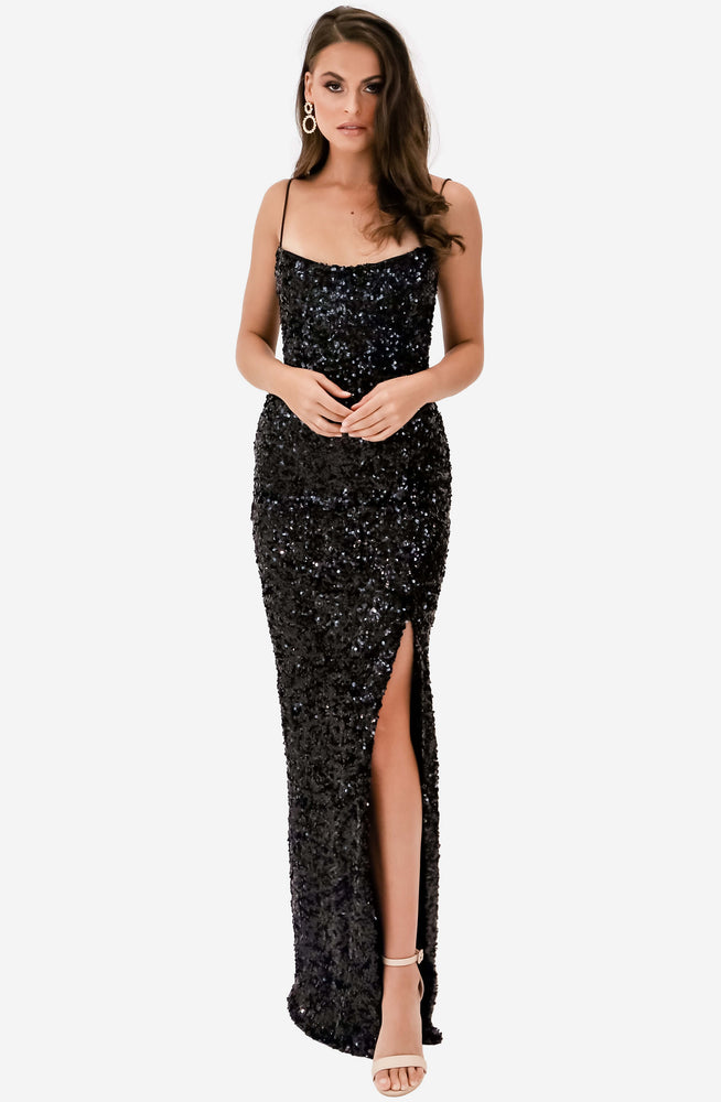 Confetti Black Gown by Nookie