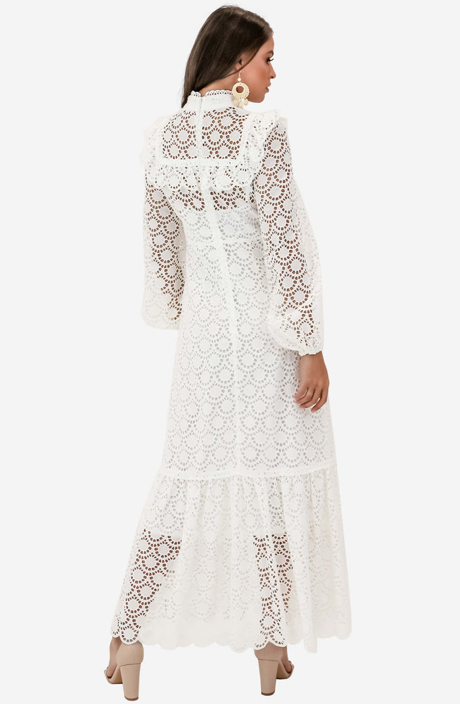 Goldie Scallop Lace Long Dress by Zimmermann