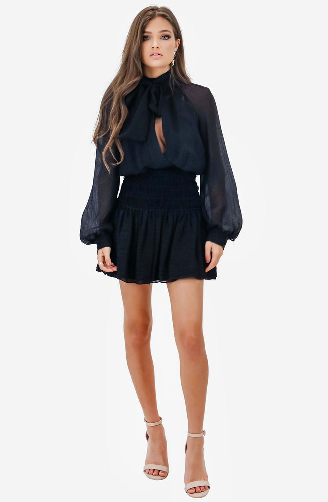 Garland Black Long Sleeve Dress by Camilla and Marc