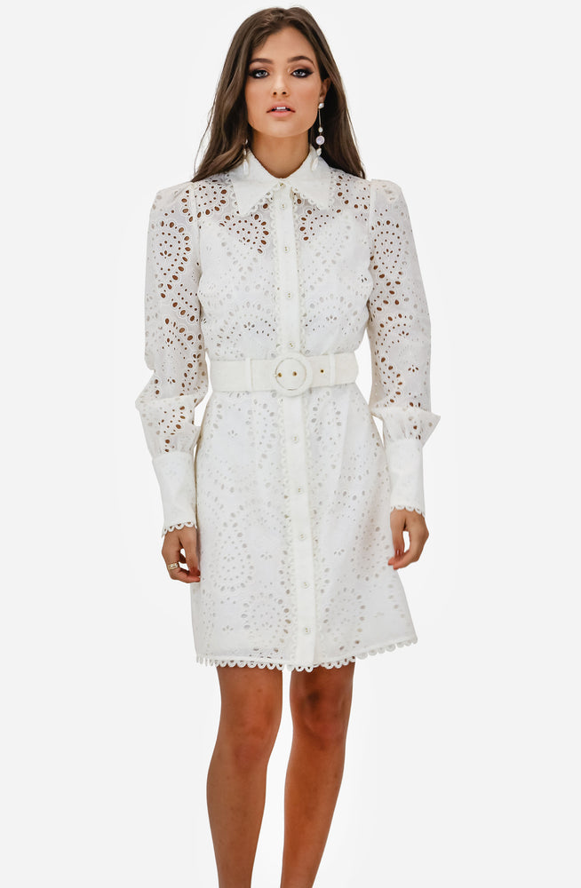 Heathers Belted Shirt Dress by Zimmermann