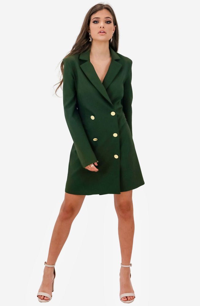Milano Olive Blazer Dress by Nookie