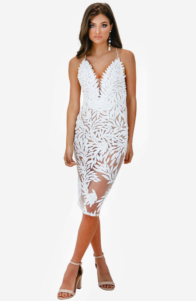 Talia White Dress by Nadine Merabi