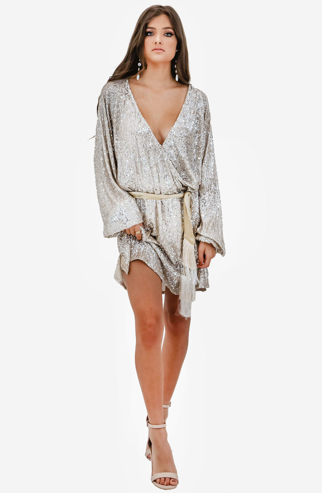 Broadway Short Silver Dress by Winona