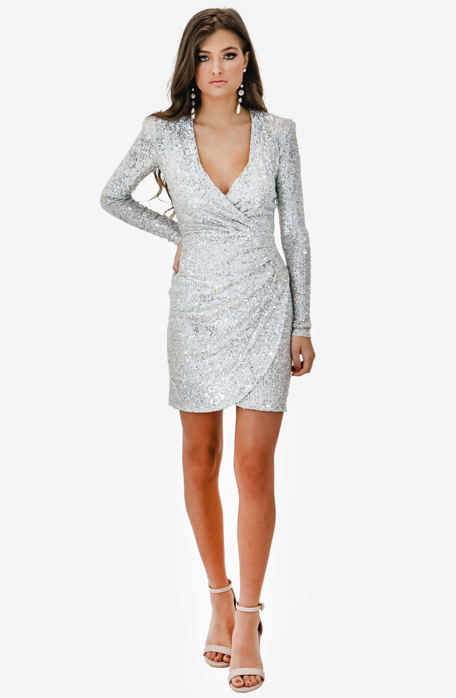 Fantasy Mini Silver Dress by Nookie