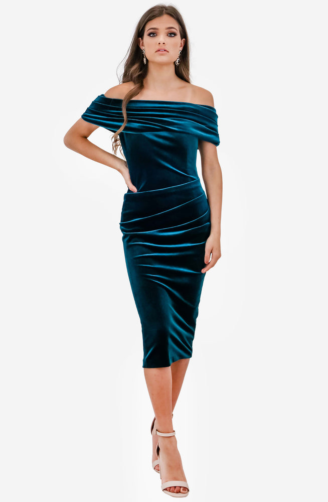 Jennie Emerald Dress by Nadine Merabi