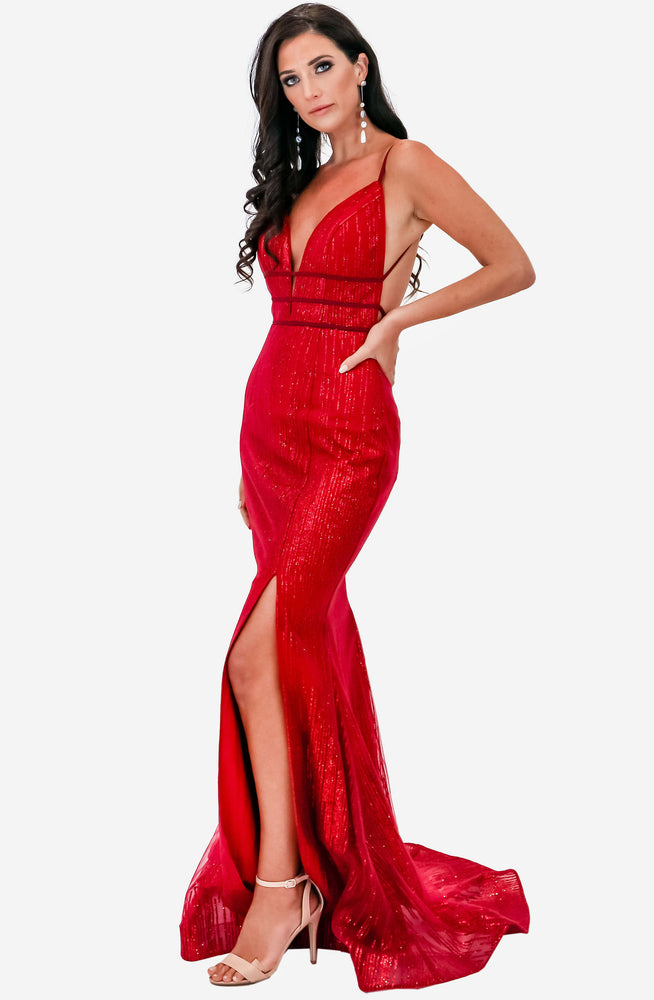 Strapped Backless Gown by Jadore (JX1124)