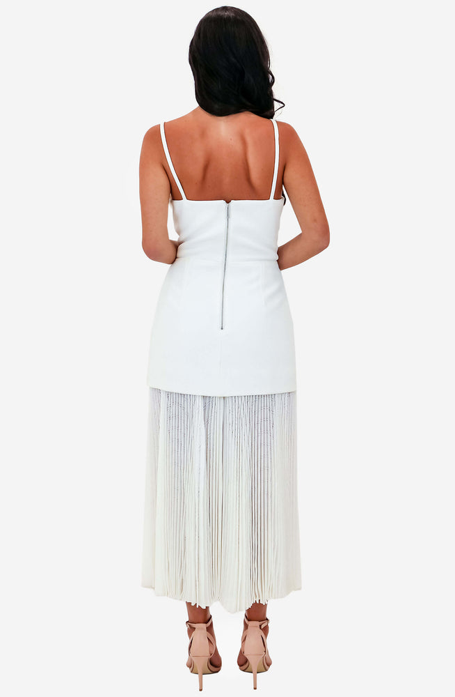 Mesh Pleat Long Dress by Dion Lee