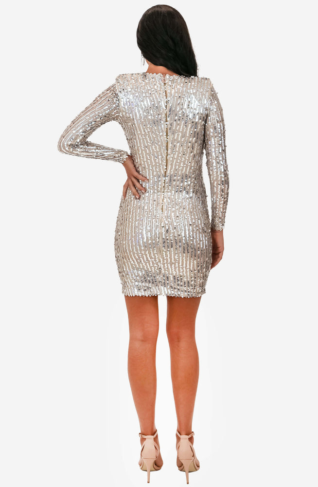 Kylie Long Sleeve Silver Dress by Nookie