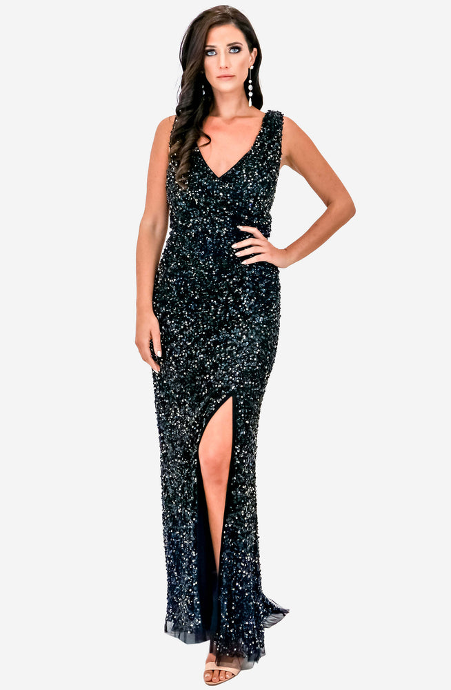 Layla Hand Beaded Gown by Montique