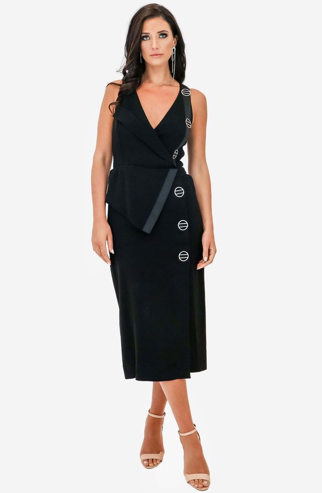 Folded Satin Back Crepe Dress by Dion Lee