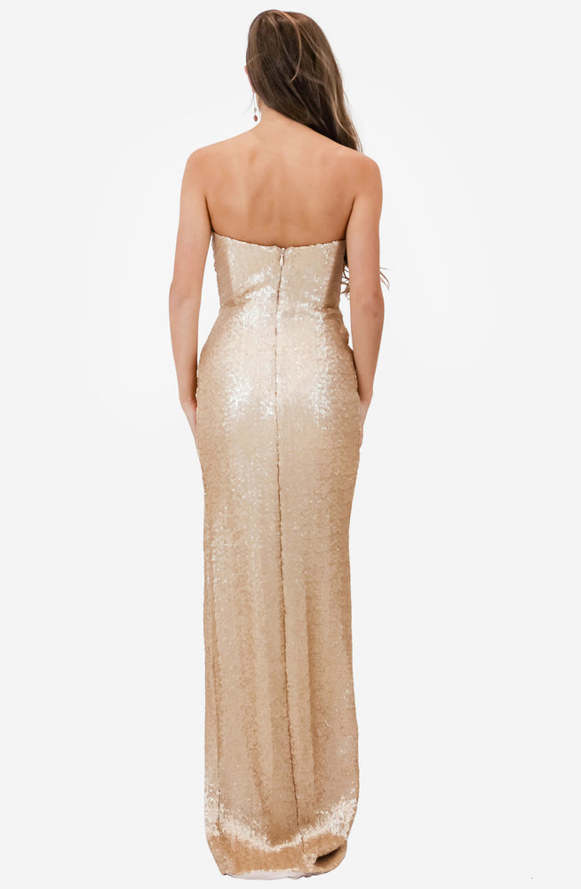 Adele Champagne Sequin Gown by Nookie