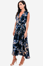 Printed Wrap Maxi Dress by Ginger & Smart