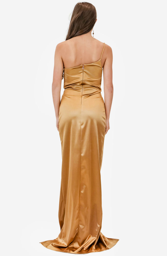 Tease Satin Gold Gown by Nookie