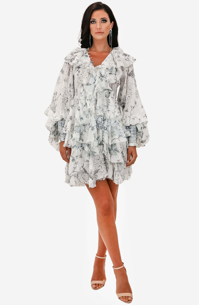 Venus Ruffled Mini Dress by Leo & Lin
