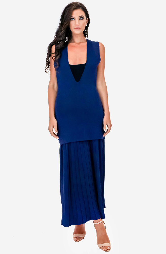 Mirror V Pleated Dress by Dion Lee