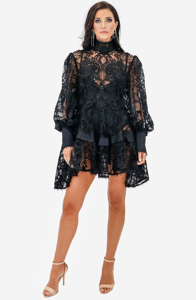 Black Juno Lace Mini by Leo & Lin