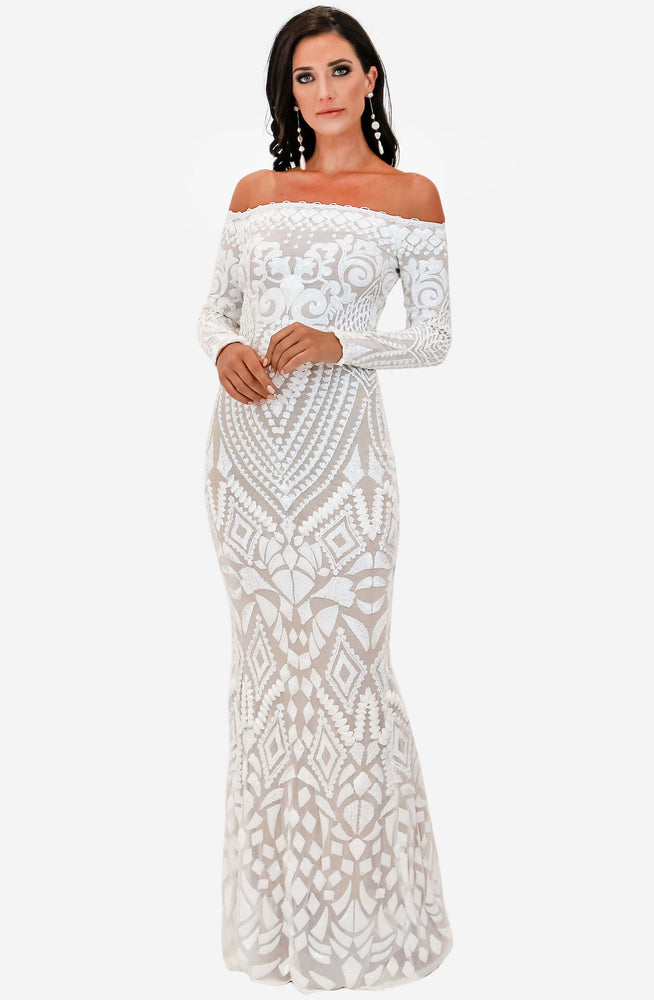 Arabella White Dress by Nadine Merabi