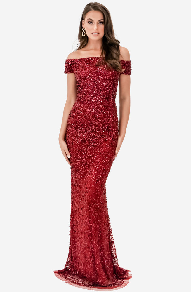 Giselle Wine Gown by Montique