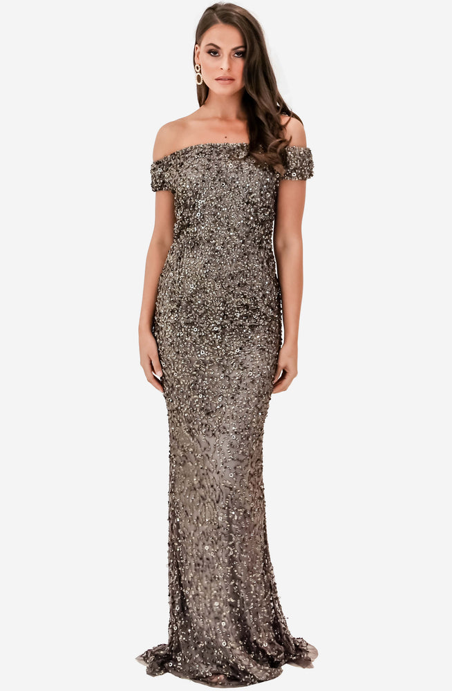 Giselle Gunmetal Gown by Montique