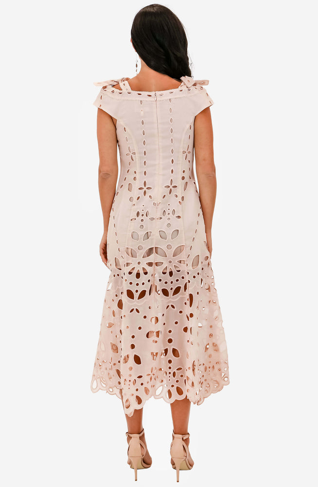Baudelaire Peach Midi Dress Sample by Alice McCall