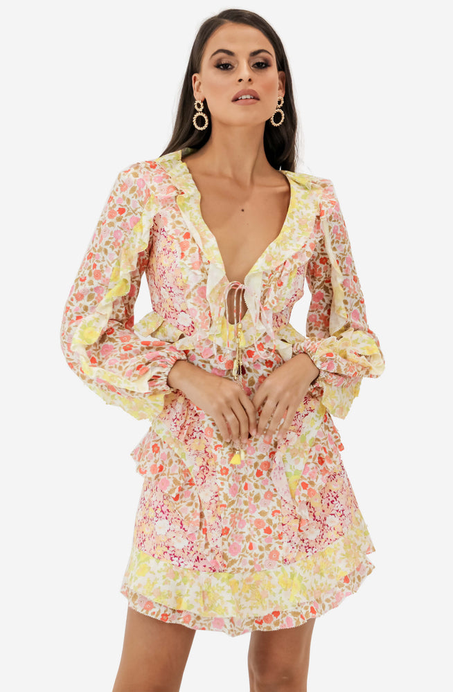 Goldie Spliced Short Dress by Zimmermann