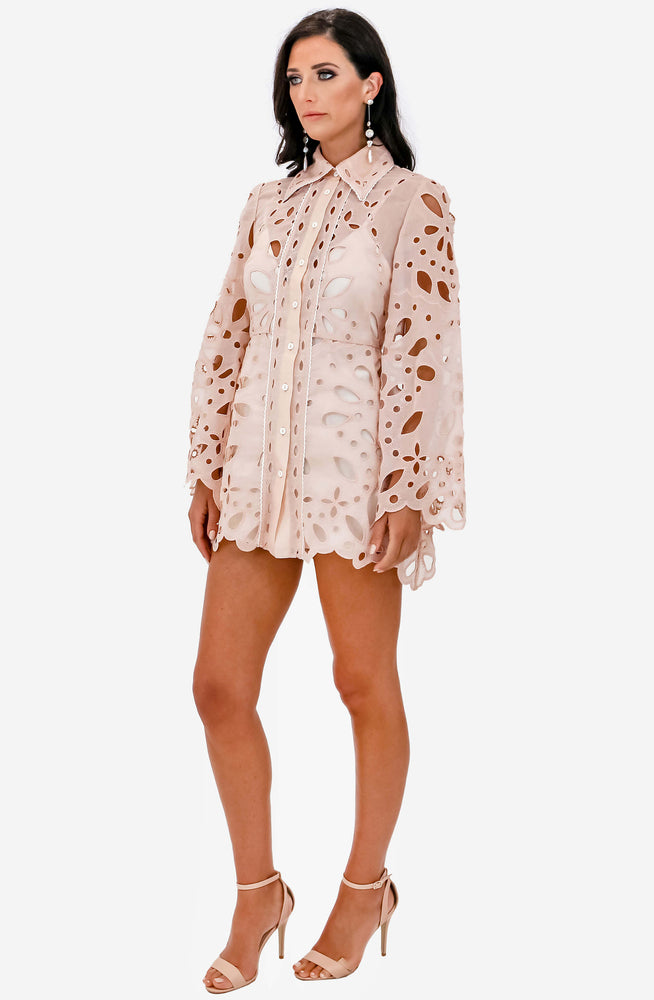 Baudelaire Peach Mini Dress by Alice McCall