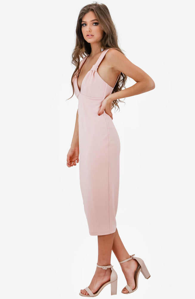Lust Midi Blush Dress by Nookie