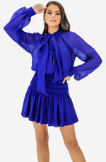 Garland Electric Blue Long Sleeve Dress by Camilla and Marc
