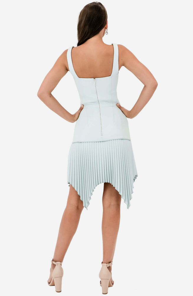 Mint Green Pleated Mini Dress Sample by Dion Lee