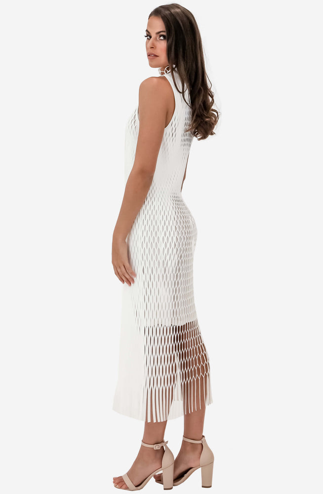 X-Ray Sheath White Dress by Dion Lee