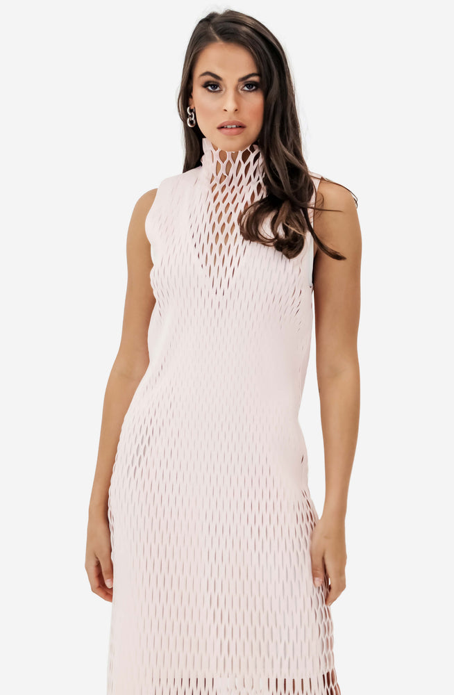 X-Ray Sheath Frost Pink Dress by Dion Lee