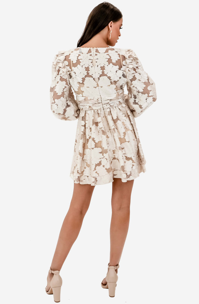 Magic Long Sleeve Cream Mini Dress Sample by Alice McCall