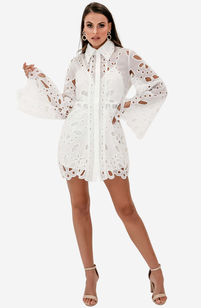 Baudelaire White Mini Dress by Alice McCall