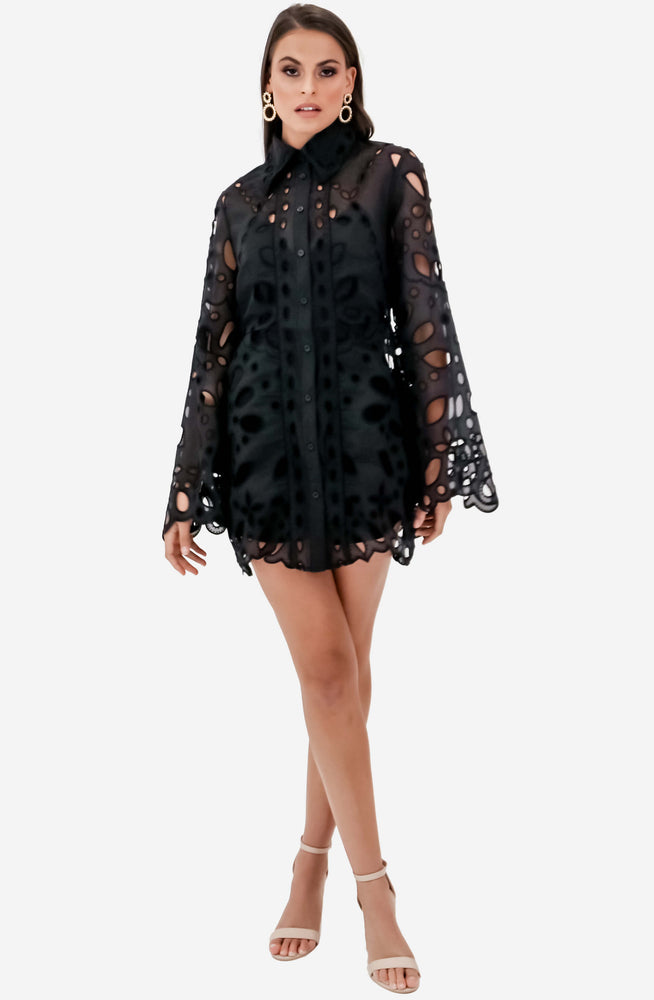 Baudelaire Black Mini Dress by Alice McCall