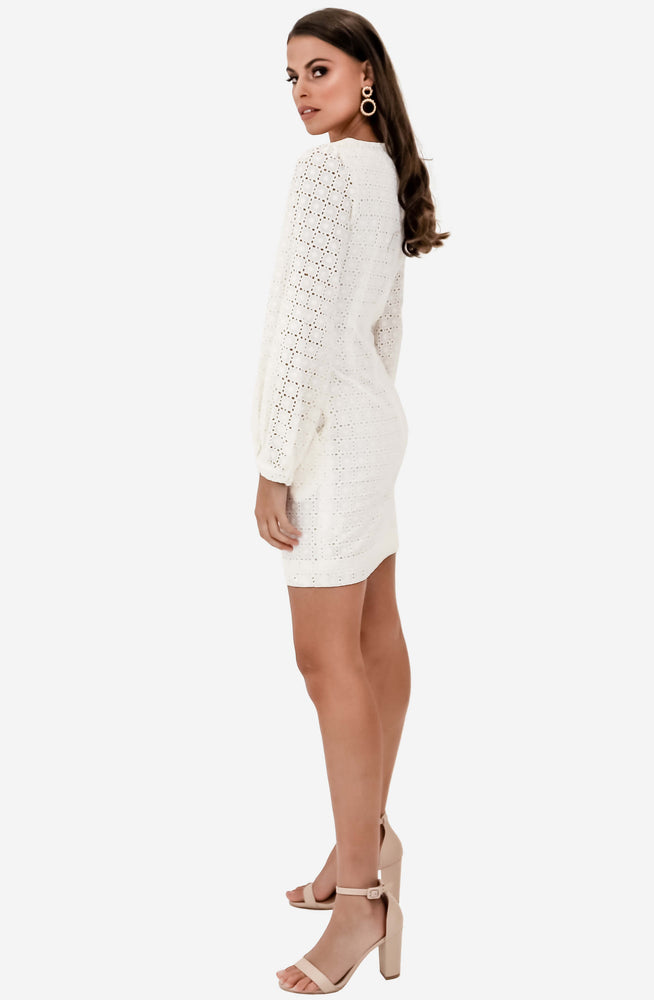 Sookie Shift White Mini Dress by We Are Kindred